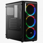 Корпус Aerocool SI-5200 RGB-A-BK-v1 Tempered Glass (без БП)